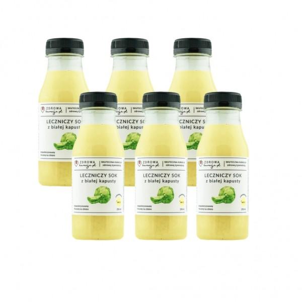 Sok z białej kapusty 250 ml - 6 szt